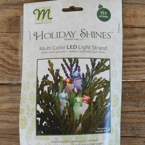 Multi Color LED Light Strand 15 feet 48 Bulbs